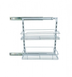 ROLL OUT PANTRY 2X200MM BASKETS