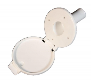 CAMEC WATER FILLER WITH HINGED FLAP - FITS 25MM HOSE
