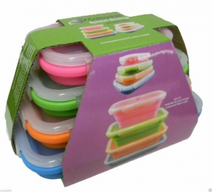 COLLAPSIBLE RECTANGLE TUBS 4 PK