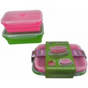 COLLAPSIBLE RECTANGLE TUBS 2 PK