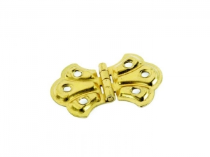 BUTTERFLY HINGE BRASS PLATED