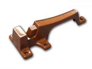CAMEC CUPBOARD CATCH BROWN - 2 PART