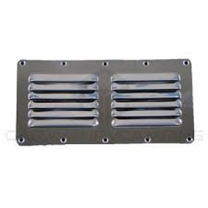 CAMEC LOUVRE VENT STAINLESS STEEL DOUBLE ROW 115 X 227MM