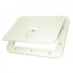 ACCESS HATCH 270 X 370MM - WHITE WITH LOCK AND HANDLE
