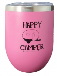 INSULATED KEEP CUP PINK - HAPPY CAMPER
