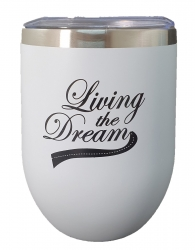 INSULATED KEEP CUP WHITE - LIVIN THE DREAM