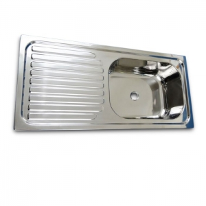 STAINLESS STEEL SINK 760 X 355