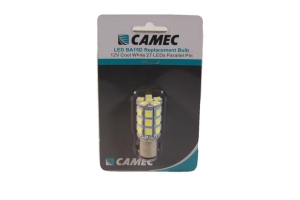 CAMEC 12V 27 LED BA15D REPLACEMENT BULB DOUBLE CONTACT - COOL WHITE