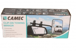 CAMEC CLIP ON TOWING MIRROR UNIVERSAL FITTING - FLAT GLASS