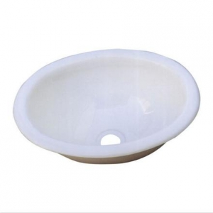 PLASTIC OVAL BASIN ONLY  390WX305DX150H - WHITE