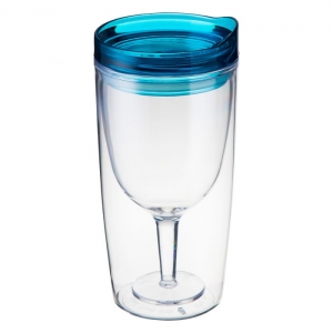 TRAVINO BLUE SPILL PROOF WINE SIPPY CUP
