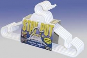 STAY PUT CLOTHES HANGERS 6 PK