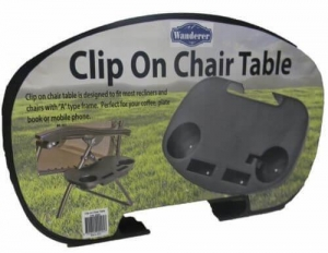CLIP ON CHAIR TABLE