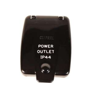 CLIPSAL 10A OUTLET - BLACK