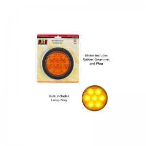 LED AUTOLAMPS 113 SERIES 12-24V LED COMBO LAMP ROUND REAR INDICATOR AMBER WITH P