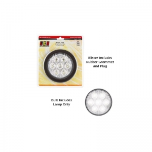 LED AUTOLAMPS 113 SERIES 12-24V COMBO LAMP ROUND REVERSE WHITE WITH PLUG/GROMMET