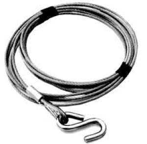 DUNBIER WINCH CABLE 4MM X 6M WITH S HOOK