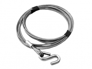 DUNBIER WINCH CABLE 5MM X 6M WITH S HOOK