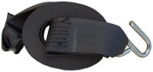 DUNBIER REPLACEMENT WINCH STRAP 6M X 50MM WITH S HOOK