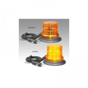 LED AUTOLAMPS 11-48V 128 SERIES STROBE BEACON MAGNETIC MOUNT - AMBER