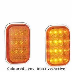 LED AUTOLAMPS 131 SERIES 12-24V INDICATOR LAMP WITH AMBER LENS AND CHROME REFLEC