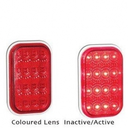 LED AUTOLAMPS 131 SERIES 12-24V STOP/TAIL LAMP WITH RED LENS AND CHROME REFLECTO