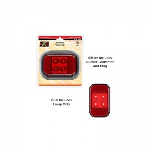 LED AUOTLAMPS 133 SERIES 12-24V COMBO LAMP STOP/TAIL/REFLEC WITH RUBBER GROMET/P