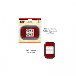 LED AUTOLAMPS 133 SERIES 12-24V REVERSE LAMP WITH REFLEC WITH RUBBER GROMMET/PLU