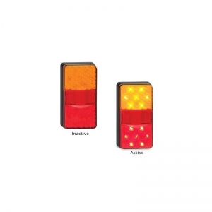 LED AUTOLAMPS 150 SERIES 12V COMBO LAMP STOP/TAIL/IND/REFL -TWIN PACK