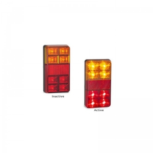 LED AUTOLAMPS 151 SERIES 12V COMBINATION LAMP STOP/TAIL/IND/ REF - TWIN PACK