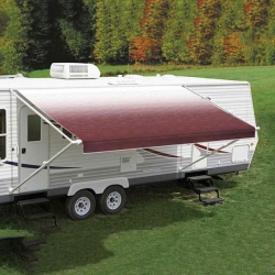 CAREFREE 13FT BURGUNDY SHALE FADE ROLL OUT AWNING (NO ARMS) FF136A00HM
