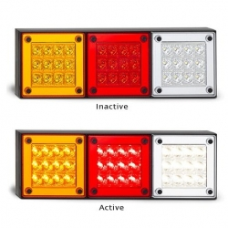 LED AUTOLAMPS 12-24V COMBINATION LAMP LED STOP/TAIL/IND