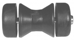 BOW ROLLER DUNBIER POLY BLACK SUIT 75MM WINCH CARRIER