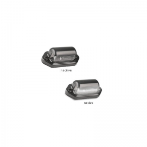 LED AUTOLAMPS 30 SERIES 12-24V LED LICENCE LAMP - BLACK HOUSING TWIN PACK
