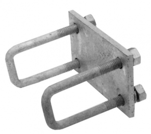 DUNBIER ROLLA-MATIC MOUNTING PLATE WITH UBOLTS SUITS 50 X 50MM TUBE