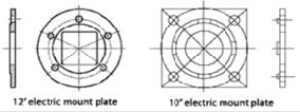 """AL-KO 10"""" ELECTRIC MOUNTING PLATE 45MM BORE SUIT 45MM ROUND/SQUARE"""