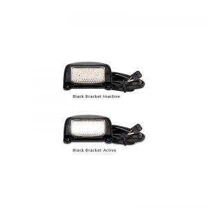 LED AUTOLAMPS 35 SERIES 12-24V LICENCE PLATE LAMP BLACK HOUSING 1 MT LEAD