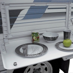 COAST RV PICNIC TABLE WITH BACKING PLATE WHITE