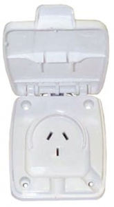 CLIPSAL 10 AMP OUTLET OLD STYLE PRE 2006 - WHITE