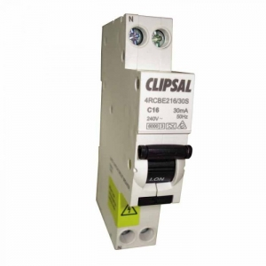 CLIPSAL 240V MINIATURE CIRCUIT BREAKER DOUBLE POLE WITH EARTH LEAKAGE