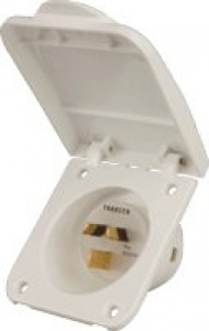 15A POWER INLET SOCKET - WHITE .IL15