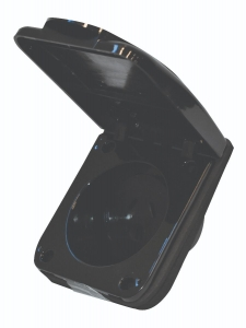 10A POWER OUTLET SOCKET - BLACK OL10/B