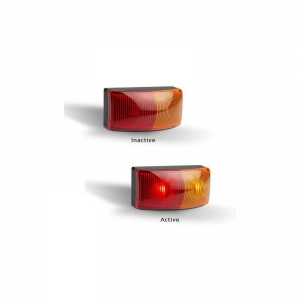 LED AUTOLAMPS 5025 SERIES 12-24V LED RED/AMBER SIDE MARKER - TWIN PACK