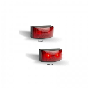 LED AUTOLAMPS 5025 SERIES 12-24V LED REAR END OUTLINE MARKER RED - TWIN PACK