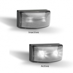 LED AUTOLAMPS 5025 SERIES 12-24V LED FRONT END OUTLINE MARKER - TWIN PACK