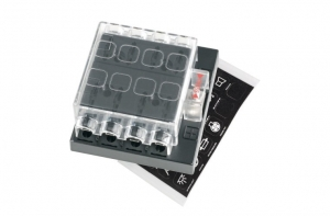 8 WAY STANDARD ATS BLADE FUSE BLOCK