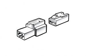 NARVA 1 WAY MALE QUICK CONNECTOR HOUSINGS - 2 PACK