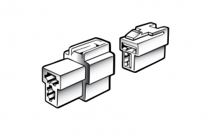 NARVA 2 WAY MALE QUICK CONNECTOR HOUSING - 2 PACK