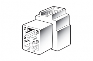 NARVA 3 WAY MALE QUICK CONNECTOR HOUSING - 2 PACK