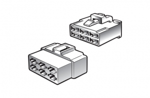 NARVA 8 WAY MALE QUICK CONNECTOR HOUSING - 2 PACK